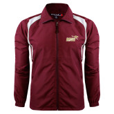 Colorblock Maroon/White Wind Jacket-Primary Mark 2 Color