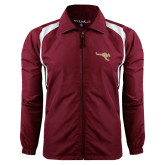 Colorblock Maroon/White Wind Jacket-Roo Icon