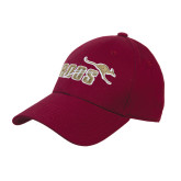 Maroon Heavyweight Twill Pro Style Hat-Primary Mark 2 Color
