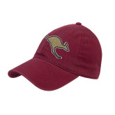 Maroon Twill Unstructured Low Profile Hat-Roo Icon