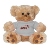 Plush Big Paw 8 1/2 inch Brown Bear w/Grey Shirt-Primary Mark 2 Color