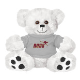 Plush Big Paw 8 1/2 inch White Bear w/Grey Shirt-Primary Mark 2 Color