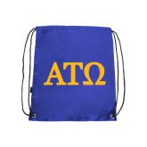 Royal Drawstring Backpack-ATO Greek Letters