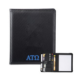 Carbon Fiber Tech Padfolio-ATO Greek Letters