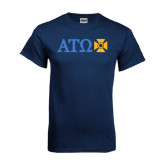 Navy T Shirt-Greek Letters with Cross
