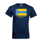 Navy T Shirt-Distressed Flag