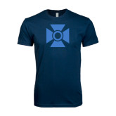 Next Level SoftStyle Navy T Shirt-Cross