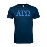 Next Level SoftStyle Navy T Shirt-ATO Greek Letters