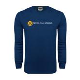 Navy Long Sleeve T Shirt-Official Logo Flat Version