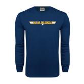 Navy Long Sleeve T Shirt-Top Gun Style