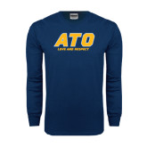 Navy Long Sleeve T Shirt-ATO Love and Repect
