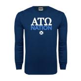 Navy Long Sleeve T Shirt-ATO Nation