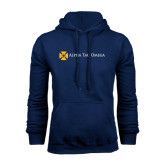Navy Fleece Hoodie-Official Logo Flat Version
