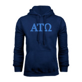 Navy Fleece Hoodie-ATO Greek Letters