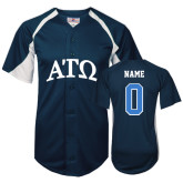 Replica Navy Adult Baseball Jersey-Personalized w/Name and Number