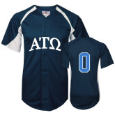 Replica Navy Adult Baseball Jersey-Personalized w/Number