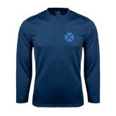 Syntrel Performance Navy Longsleeve Shirt-Cross