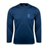 Performance Navy Longsleeve Shirt-ATO Interlocking