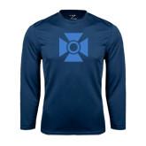 Performance Navy Longsleeve Shirt-Cross