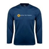 Performance Navy Longsleeve Shirt-Official Logo Flat Version