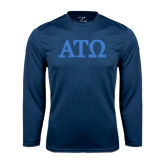 Syntrel Performance Navy Longsleeve Shirt-ATO Greek Letters