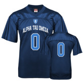 Replica Navy Adult Football Jersey-Personalized w/Number