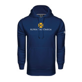 Under Armour Navy Performance Sweats Team Hoodie-Official Logo