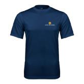 Syntrel Performance Navy Tee-Official Logo