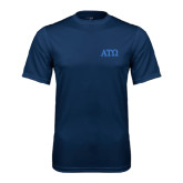 Syntrel Performance Navy Tee-ATO Greek Letters