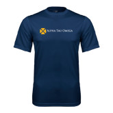 Performance Navy Tee-Official Logo Flat Version