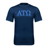 Performance Navy Tee-ATO Greek Letters