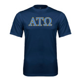Performance Navy Tee-ATO 2 Color Greek Letters