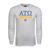 White Long Sleeve T Shirt-ATO Nation