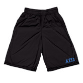 Russell Performance Black 9 Inch Short w/Pockets-ATO Greek Letters
