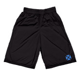 Russell Performance Black 9 Inch Short w/Pockets-Cross