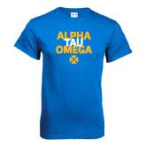 Royal T Shirt-Alpha Tau Omega Stacked