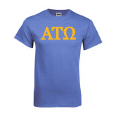 Arctic Blue T Shirt-ATO Greek Letters