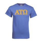 Arctic Blue T Shirt-ATO Greek Letters