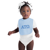 Light Blue Baby Bib-ATO Greek Letters