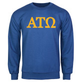 Royal Fleece Crew-ATO Greek Letters