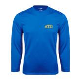Syntrel Performance Royal Longsleeve Shirt-ATO Greek Letters