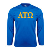 Performance Royal Longsleeve Shirt-ATO Greek Letters