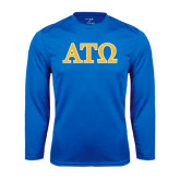 Syntrel Performance Royal Longsleeve Shirt-ATO 2 Color Greek Letters