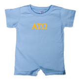 Light Blue Infant Romper-ATO Greek Letters
