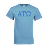 Light Blue T Shirt-ATO Greek Letters