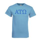 Light Blue T-Shirt-ATO Greek Letters