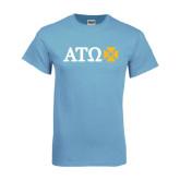 Light Blue T-Shirt-Greek Letters with Cross