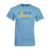 Light Blue T Shirt-Love and Respect Stacked