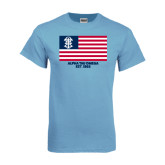 Light Blue T-Shirt-American Flag