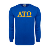 Royal Long Sleeve T Shirt-ATO Greek Letters
